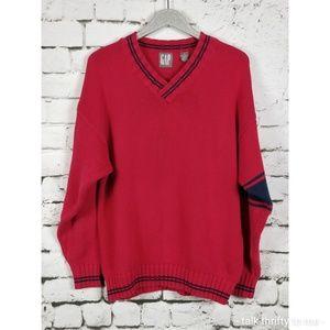 VTG GAP   Varsity V-Neck Sweater XL